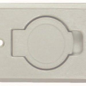 Saugsteckdose Kunststoff weiß – 150110