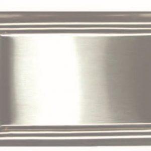 Saugsteckdose metall weiß oder Edelstahl