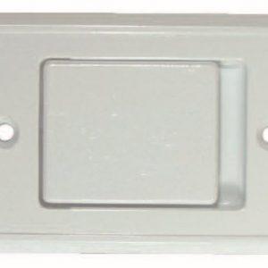 Saugsteckdose Metall weiß – 150120