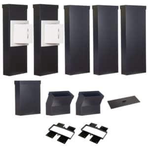 Wäscheabwurfschacht-Komplettset Wäsche-Ex SMART Typ Einfamilienhaus mit 2 Einwurftüren