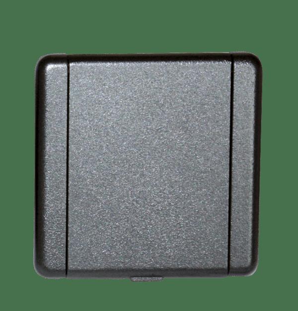 Saugsteckdose Argon Metall schwarz